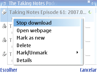 While downloading